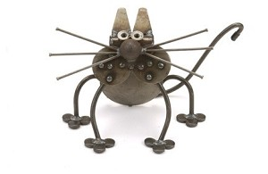 Sitting Kitten Sculpture