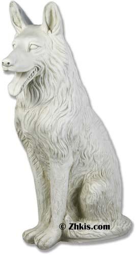 Large German Shepherd Statue